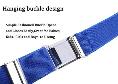 Adjustable Boy Kids Buckle Belt Elastic Children Silver Buckle Belts