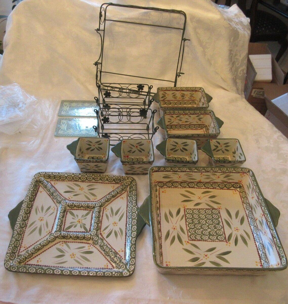 Temp-tation Old World Grün Oven to Table 13 Piece Set