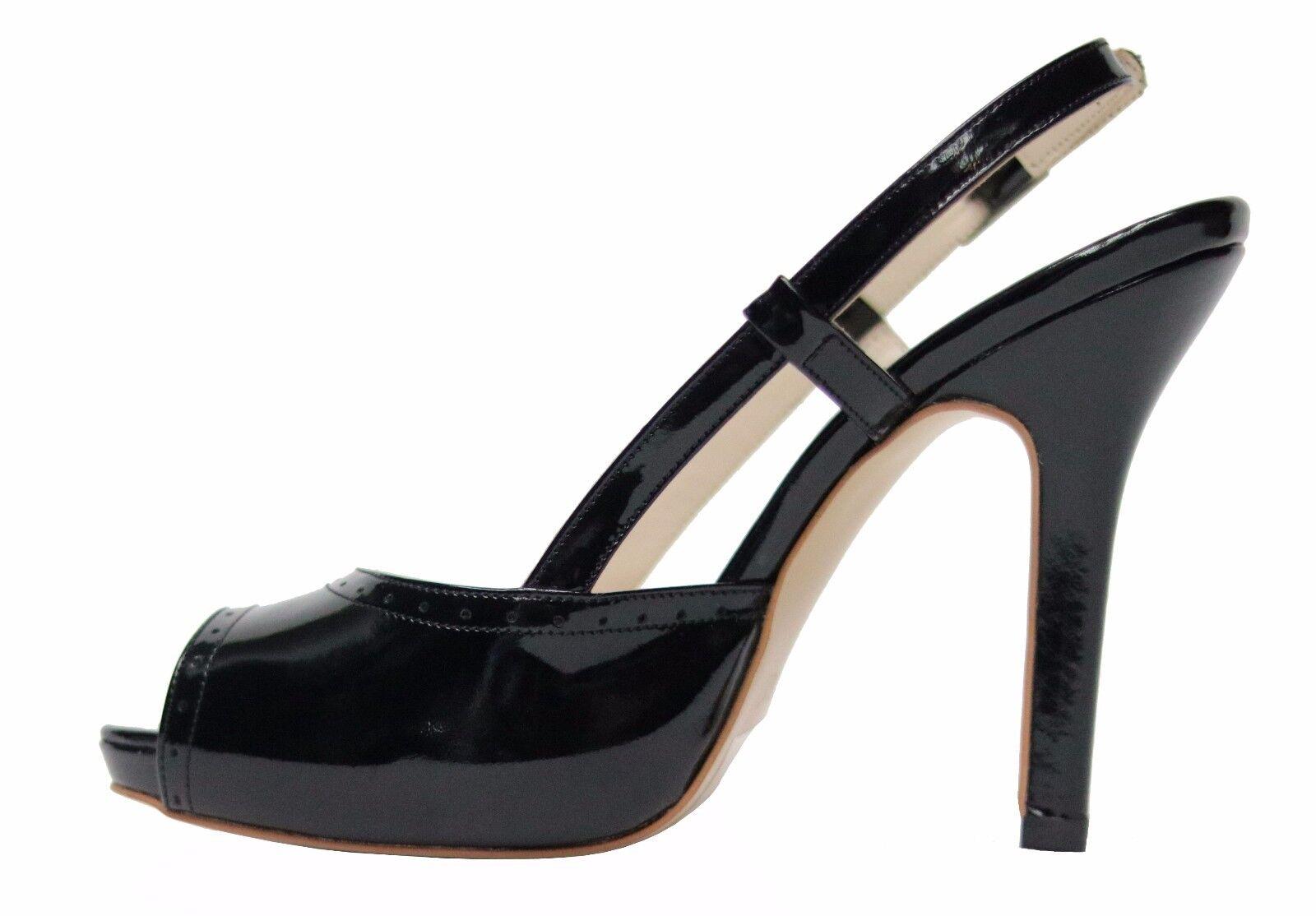 Echtleder Damen Schuhe Lack Schuhe Damen Pumps Gr.37 Schwarz 8372f2