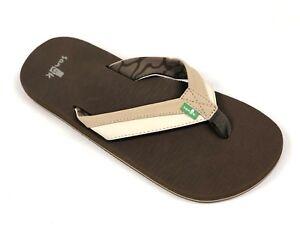 Sanuk-Men-039-s-BEER-COZY-LIGHT-Light-Tan-Natural-SMS10412-Casual-Flip-Flop-Sandals