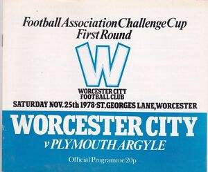 WORCESTER CITY V PLYMOUTH ARGYLE FA CUP 251178 - anerley, London, United Kingdom - WORCESTER CITY V PLYMOUTH ARGYLE FA CUP 251178 - anerley, London, United Kingdom