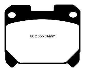 super cheap ef19d ea261 Dettagli su DP31005C EBC Pastiglie Rosse per Freni Posteriori Toyota Celica  Supra (Non UK)