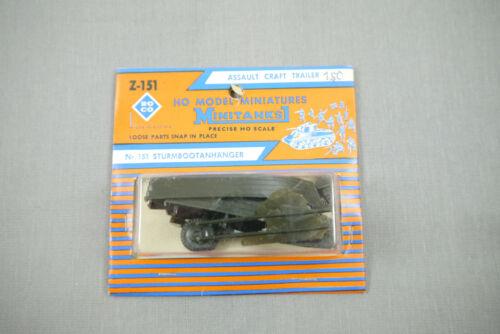 Roco Z-151 Sturmbootanhänger Neuf Emballage Scellé H0 1:87 K44