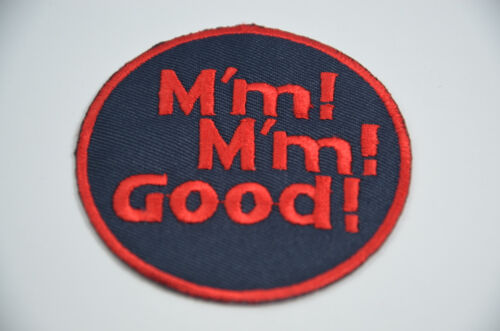 SEW IRON ON  PATCH BADGE EMBROIDERY APPLIQUE MM MM GOOD CAMPBELLS SOUP KID M/'M
