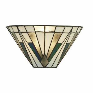 Searchlight-Gatsby-Tiffany-mur-lumiere-Bronze-Noir-Clair-Blanc-Multi