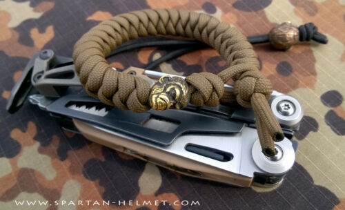 CAST SOLID BRASS EDC MILSPEC MONKEY FOR PARACORD LANYARD