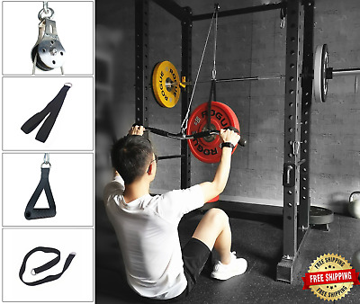 fitness pulley cable machine arm biceps triceps strength