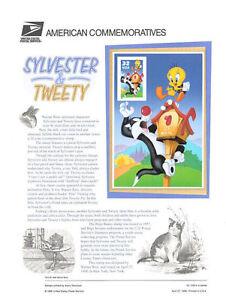 #538 32c Sylvester/Tweety Stamp #3204a USPS Commemorative Stamp Panel