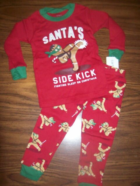 4b7335104 Carter s 2 Piece PJs Red Holiday Pajamas 12 MONTHSBOYS Santa s Side ...