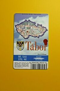 Cesky-Telecom-Tabor-Photo-Map-City-Collectibles-Old-Vintage-Tele-Phone-Card
