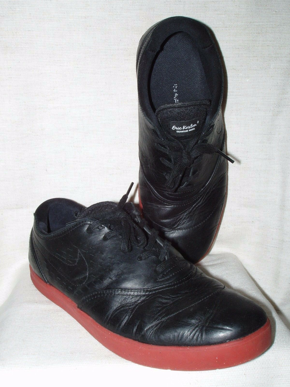 Mens shoes Nike Eric Koston 2 Sz 10 Black Leather  Excellent