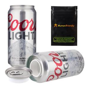 Coors Light Diversion Safe Secret Stash Can w Free Smell Proof Bag Shipping