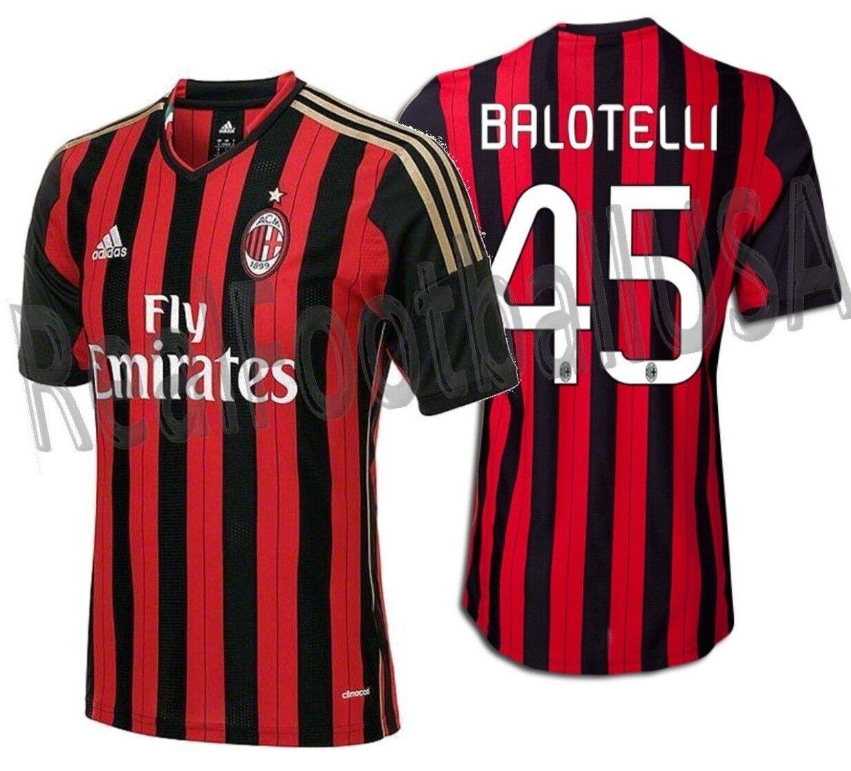 Adidas Mario Balotelli Ac Milan Home Jersey 2013 14