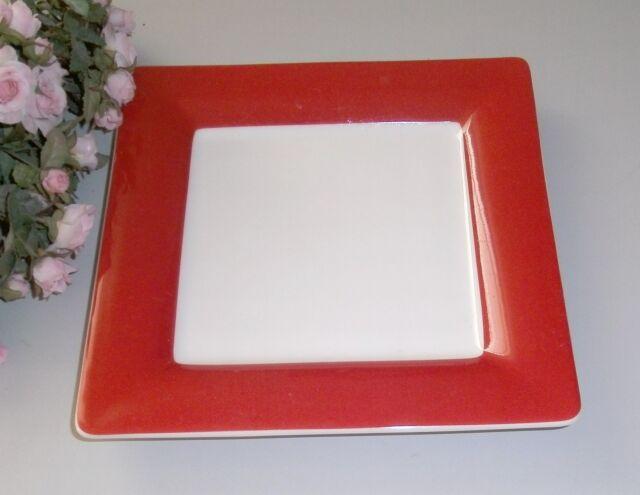 Villeroy & Boch WONDERFUL WORLD red Frühstücksteller quadratisch TOP V&B mehr da