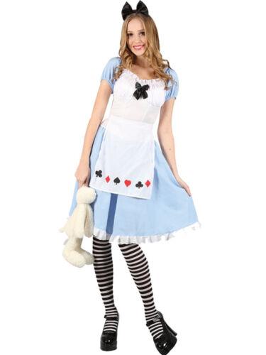 Ladies Adult Adorable Alice Wonderland Fancy Dress Costume Book Week 6-24