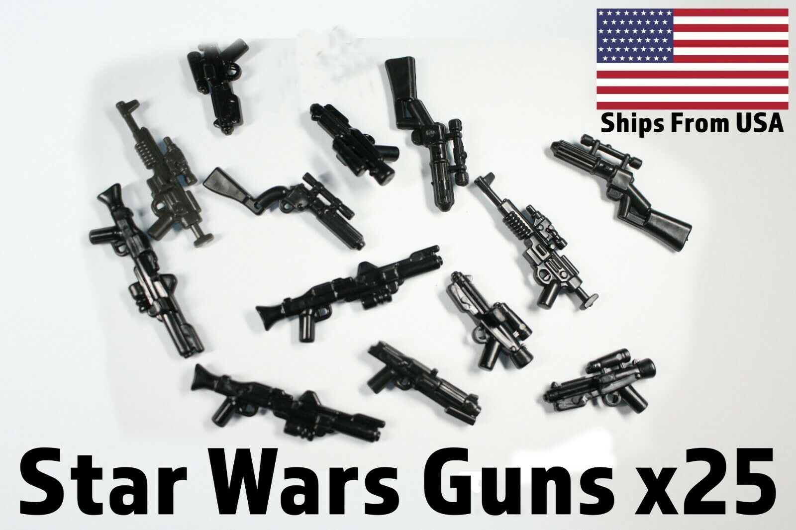 LEGO Star Wars Lot of 25 Long Rifle Blasters Guns Weapons Accessories