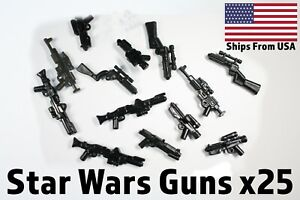 LEGO-Star-Wars-Guns-Clone-Storm-Trooper-Blasters-Lot-x25-Randomized-Weapons