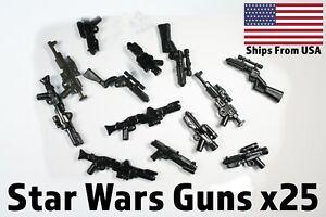 Lego-Star-Wars-Waffen-Clone-Storm-Trooper-Blaster-Lot-x25-randomisierten-Waffen