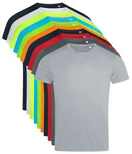 ACTIVE-DRY-Plain-Breathable-Smooth-Polyester-Body-Fit-Sports-Tee-T-Shirt-Tshirt