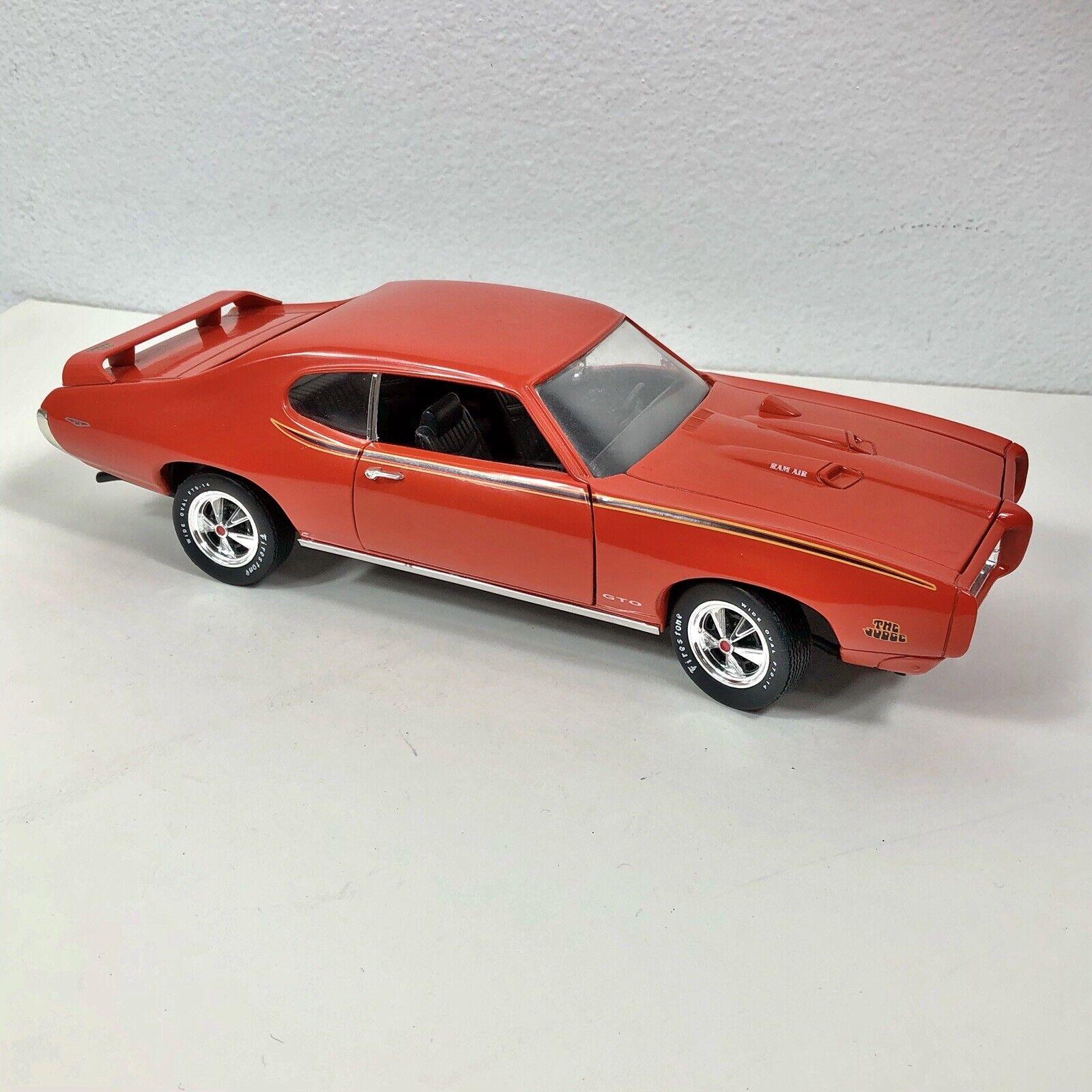 Ertl 1 18 1969 Pontiac Gto Judge Carousel Red Orange 7467 American Muscle 69 For Sale Online Ebay