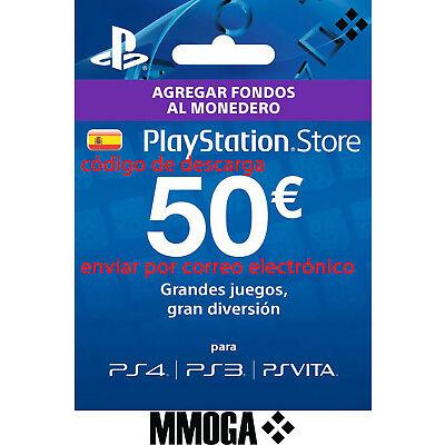 50? Tarjeta Prepago PlayStation Network PSN PS3 PS4 PS Vita Código 50 Euro - ES
