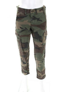 Polo-Ralph-Lauren-Womens-Mid-Rise-Skinny-Jeans-Pants-Camouflage-Cotton-Size-0