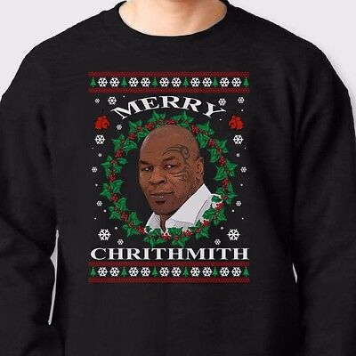 Merry Chrithmith Mike Tyson Ugly Christmas Sweater Unisex Crewneck Sweatshirt