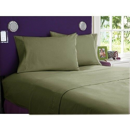900 TC EGYPTIAN COTTON COMPLETE BEDDING COLLECTION IN ALL SETS & MOSS COLOR