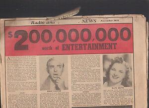 General Electric GE Radio & Television News November 1951 Ad Paper