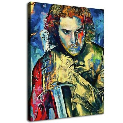 12 X16 Jon Snow Game Of Thrones Hd Canvas Print Painting Home Decor Wall Art Ebay