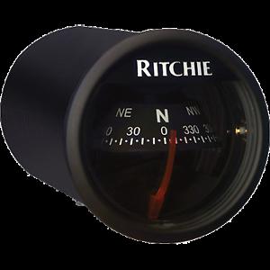 "RITCHIE COMPASSES RITC-X-21BB Compass, Dash Mount, 2"" Dial, Black"