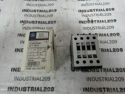 GE CL04A310M CONTACTOR RELAY 4 POLE 600V 16 AMP 110V-120V COIL