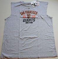 San Francisco Giants Majestic Mlb Muscle T Shirt Tank Top Big Mens 3x 4x 5x Gray