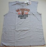San Francisco Giants Majestic Mlb Muscle T Shirt Tank Top Big Mens 3x 4x 5x Gray