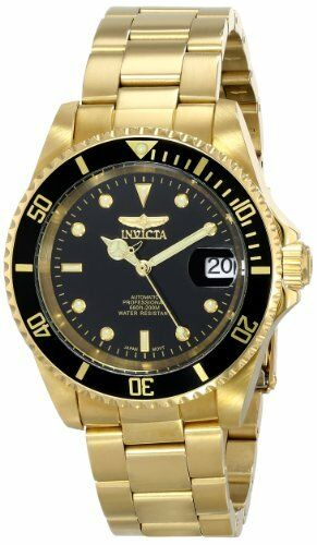 1 of 1 - Invicta Men's Pro Diver Automatic 200m Gold Plated Stainless Steel Watch 8929OB