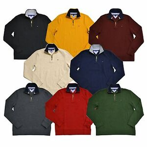 Tommy-Hilfiger-Sweater-Half-Zip-Mock-Neck-Pullover-Jumper-Classic-Fit-New-Nwt