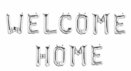 Welcome Home Letter Balloon Heart Star Confetti Ballons Party Decoration Baloon