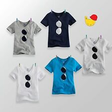 "NWT Vaenait Baby Toddler Unisex V-Neck Top T-Shirts "" Little Sunglass """