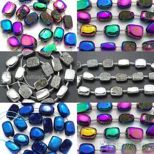 Multi-Colo-red-Metallic-Titanium-Coated-Druzy-Quartz-Agate-Nugget-Beads-16-034-Pick