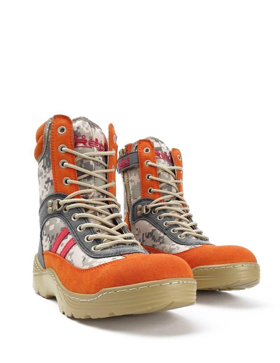 botas ejército Color Rojo Loco Desierto Digital Naranja