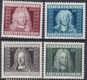 LIECHTENSTEIN-1941-Sc-172-175-MNH