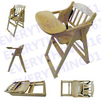 Solid Wooden High Chair Toddler Child's Table Feeding Kids High Chair Home