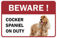 Cocker Spaniel Beware Business Store Retail Counter Sign