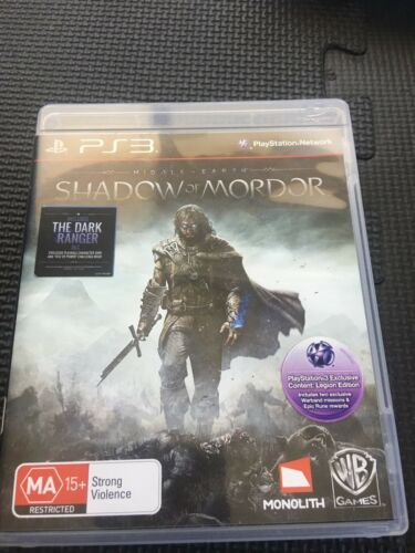 MiddleEarth Shadow of Mordor PS3