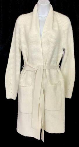 TSE Cardigan Long Sweater Ivory Cashmere Long Slee