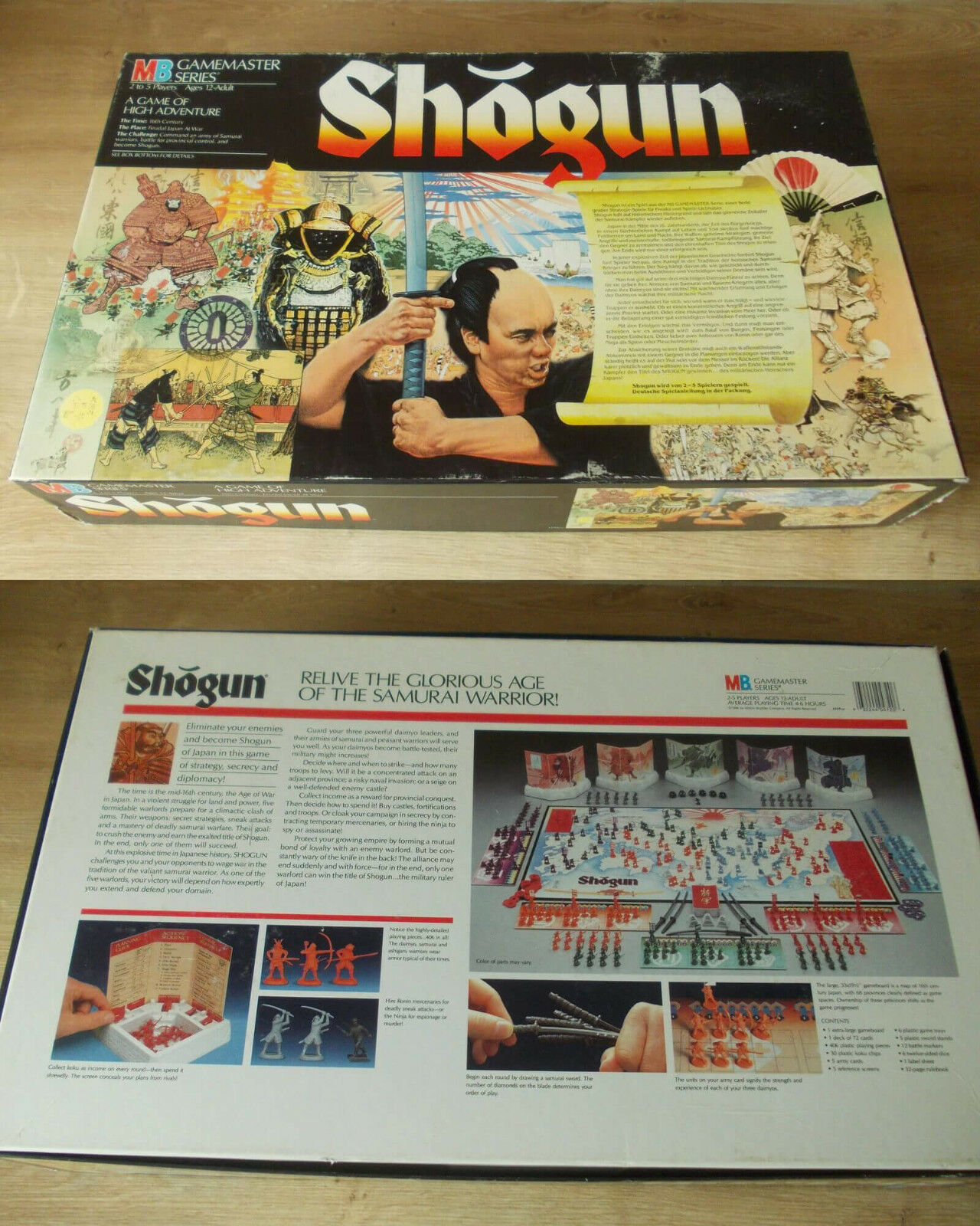 SHOGUN von MB    Game Masters Series 1989   KOMPLETT