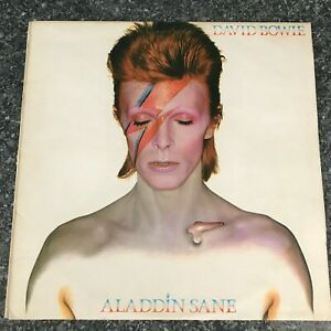 LP DAVID BOWIE ALADDIN SANE 1973 UK 1st Press NON GATEFOLD RCA RS 1001 EX/EX