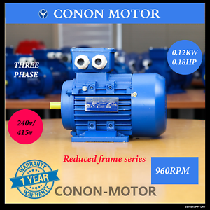 Three-phase-0-12KW-0-18HP-6-pole-960rpm-240V-415V-reduce-frame-Electric-motor
