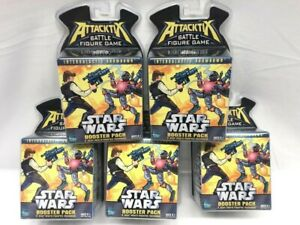Lot of 5 Star Wars Attacktix Battle Figure Game Booster Packs 10 Figures New