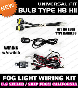 universal fog light wiring kit / drl converstion (h8 h11 harness ... universal fog light wiring harness ebay led wiring harness diagram ebay